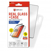 Displex Real Glass 10H Protector 3D Full Cover FPS with TPU Case for Samsung Galaxy S20 Ultra