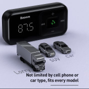 Baseus T-Typed S-16 Wireless MP3 Car Charger (black) 3