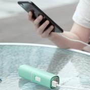 Baseus Square Portable Folding Fan - сгъваем мини вентилатор с външна батерия (зелен) 7