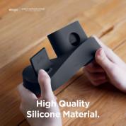 Elago Trio Charging Hub Pro - силиконова поставка за зареждане на iPhone, Apple Watch и Apple AirPods Pro (черна) 4