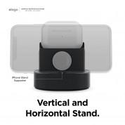 Elago Duo Charging Hub Pro - силиконова поставка за зареждане на iPhone, Apple Watch и Apple AirPods Pro (черна) 3