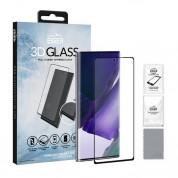 Eiger 3D Glass Full Screen Case Friendly Curved Tempered Glass - калено стъклено защитно покритие с извити ръбове за целия дисплей на Samsung Galaxy Note 20 (черен-прозрачен)
