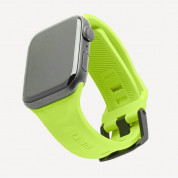 Urban Armor Gear Scout Strap - изключително здрава силиконова каишка за Apple Watch 42мм, 44мм (зелен неон)