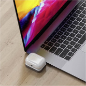 Satechi USB-C Wireless Charging Dock for Apple Airpods - USB-C док за зареждане на Apple Airpods Pro и Airpods 2 Wireless Charging Case (бял) 5