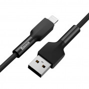 Baseus Silica Gel Lightning USB Cable for iPhone with Lightning connectors (100 cm) (black) 1