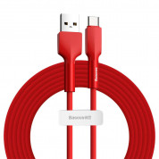 Baseus Silica Gel USB-C Cable for devices with USB-C port (200 cm) (red)