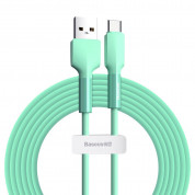 Baseus Silica Gel USB-C Cable for devices with USB-C port (200 cm) (green)
