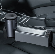 Baseus Deluxe Metal Armrest Console Organizer (Dual USB Power Supply) (silver) 16