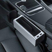 Baseus Deluxe Metal Armrest Console Organizer (Dual USB Power Supply) (silver) 9