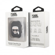 Karl Lagerfeld Airpods Ikonik Silicone Case for Apple Airpods & Apple Airpods 2 (black) 3