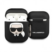 Karl Lagerfeld Airpods Ikonik Silicone Case for Apple Airpods & Apple Airpods 2 (black)