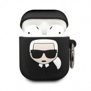 Karl Lagerfeld Airpods Ikonik Silicone Case for Apple Airpods & Apple Airpods 2 (black) 1