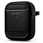 Spigen Rugged Armor Case for Apple Airpods & Apple Airpods 2 (black) 1