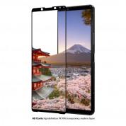 Eiger 3D Glass Edge to Edge Full Screen Tempered Glass - калено стъклено защитно покритие с извити ръбове за целия дисплея на Sony Xperia 1 II (черен-прозрачен) 3