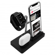 Macally 3-in-1 Apple Charging Stand (black) 1