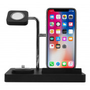 Macally 3-in-1 Apple Charging Stand - док станция за зареждане на iPhone, Apple Watch и Apple AirPods (черен) 2