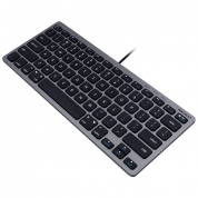 Macally Compact USB-A Keyboard - USB клавиатура оптимизирана за MacBook (тъмносив)  1