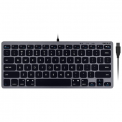 Macally Compact USB-A Keyboard - USB клавиатура оптимизирана за MacBook (тъмносив)