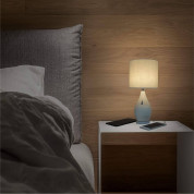 Macally Ceramic LED Table Lamp with 2 Port USB-A Charger (white) 4