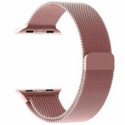 Tactical 343 Milanese Loop Magnetic Stainless Steel Band for Apple Watch 42mm, 44mm (rose gold)