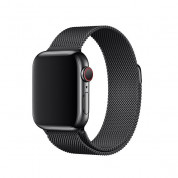 Tactical 333 Milanese Loop Magnetic Stainless Steel Band - стоманена, неръждаема каишка за Apple Watch 38мм, 40мм (черен) 1