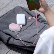 Baseus Lets Go Little Reunion One-Way Stretchable 3-in-1 USB Cable - универсален USB кабел с Lightning, microUSB и USB-C конектори (80 см) (розов) 2
