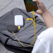 Baseus Lets Go Little Reunion One-Way Stretchable 3-in-1 USB Cable - универсален USB кабел с Lightning, microUSB и USB-C конектори (80 см) (жълт) 5