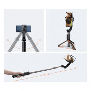 Baseus Lovely Uniaxial Bluetooth Folding Stand Gimbal Tripod Selfie Stick (black) 11