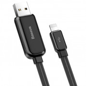 Baseus Glowing USB Lightning Cable (CALLG-01) - Lightning USB кабел за Apple устройства с Lightning порт (100 см) (черен) 2