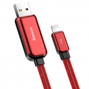Baseus Glowing USB Lightning Cable (CALLG-01) - Lightning USB кабел за Apple устройства с Lightning порт (100 см) (червен) 3
