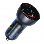 Baseus Digital Display Dual Quick Car Charger 65W incl.100 W USB-C to USB-C Cable 3