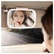 Baseus Delicate Queen Car Touch-Up Mirror - огледало с LED светлина за сенника на автомобил (розов) 5