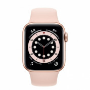 Apple Watch Series 6 GPS, 44mm Gold Aluminium Case with Pink Sand Sport Band - умен часовник от Apple  1