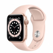 Apple Watch Series 6 GPS, 44mm Gold Aluminium Case with Pink Sand Sport Band - умен часовник от Apple
