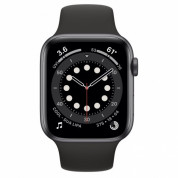 Apple Watch Series 6 GPS, 44mm Space Gray Aluminium Case with Black Sport Band - умен часовник от Apple  1