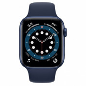 Apple Watch Series 6 GPS, 44mm Blue Aluminium Case with Deep Navy Sport Band - умен часовник от Apple  1