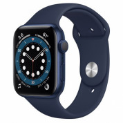 Apple Watch Series 6 GPS, 44mm Blue Aluminium Case with Deep Navy Sport Band - умен часовник от Apple