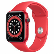 Apple Watch Series 6 GPS, 44mm PRODUCT(RED) Aluminium Case with PRODUCT(RED) Sport Band - умен часовник от Apple
