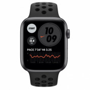 Apple Watch Nike Series 6 GPS, 44mm Space Gray Aluminium Case with Anthracite/Black Nike Sport Band - умен часовник от Apple  1