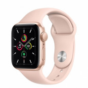 Apple Watch SE GPS, 44mm Gold Aluminium Case with Pink Sand Sport Band - умен часовник от Apple