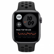 Apple Watch Nike SE GPS, 44mm Space Gray Aluminium Case with Anthracite/Black Nike Sport Band - умен часовник от Apple  1