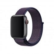Apple Watch Band Sport Loop Indigo - оригинална текстилна каишка за Apple Watch 38мм, 40мм (син-лилав) 1