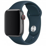 Apple Sport Band Stainless Steel Pin Pacific Green - оригинална силиконова каишка за Apple Watch 42мм, 44мм (тъмнозелен)