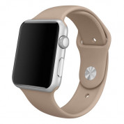 Apple Sport Band Stainless Steel Pin Walnut - оригинална силиконова каишка за Apple Watch 42мм, 44мм (кафяв)  2