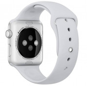 Apple Sport Band Stainless Steel Pin - оригинална силиконова каишка за Apple Watch 42мм, 44мм (бледосив) (retail) 4