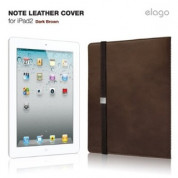 elago Note Leather Cover for iPad2 - Dark Brown