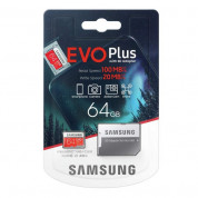 Samsung MicroSD 64GB EVO Plus UHS-I (U1) Memory Card  (GoPro compatible) 4K UHD Videos 3
