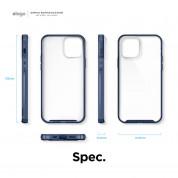 Elago Hybrid Case - хибриден удароустойчив кейс за iPhone 12 mini (тъмносин) 7
