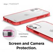 Elago Hybrid Case - хибриден удароустойчив кейс за iPhone 12 mini (червен) 4