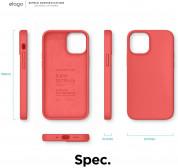 Elago Soft Silicone Case - силиконов (TPU) калъф за iPhone 12 mini (червен) 7